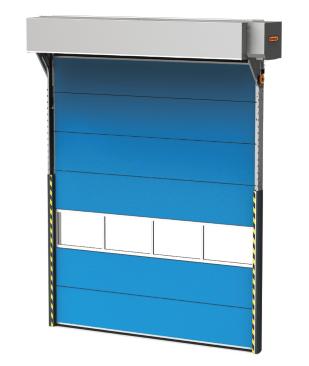 Schutzabdeckung für das Falttor und den Motor