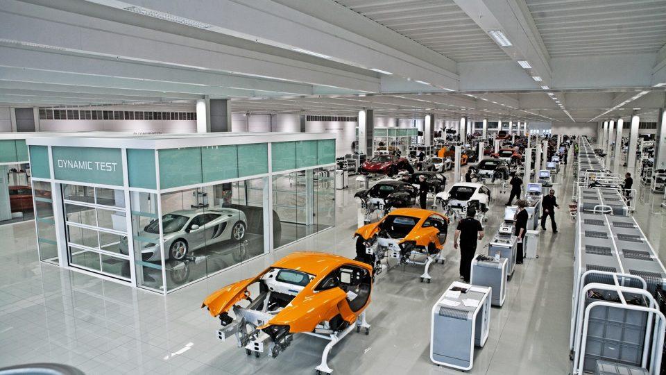 McLaren Produktion mit Compact Falttoren