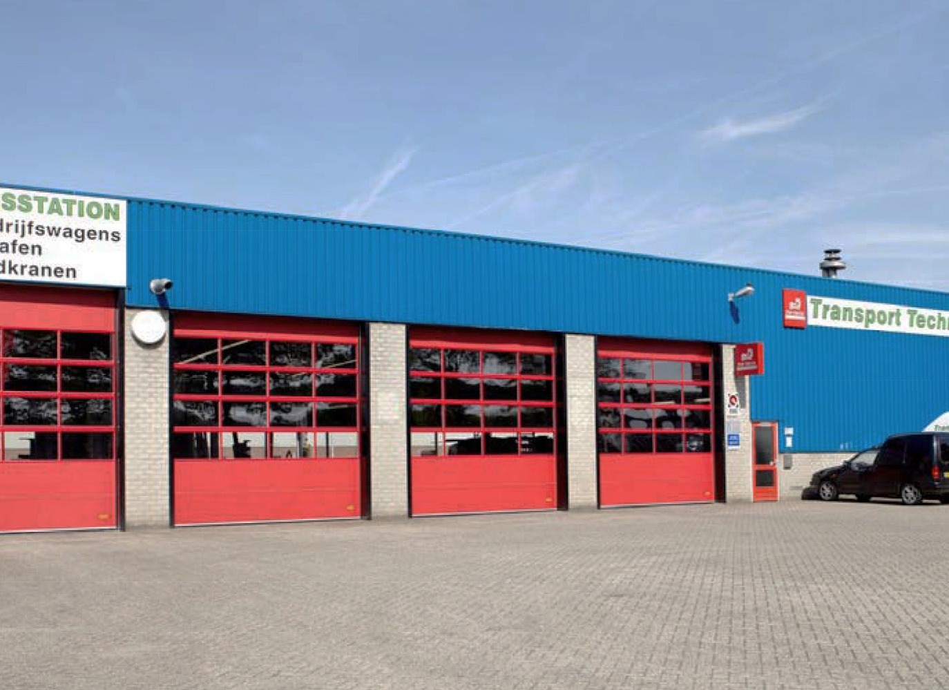 Industrial garage doors for a logistics company