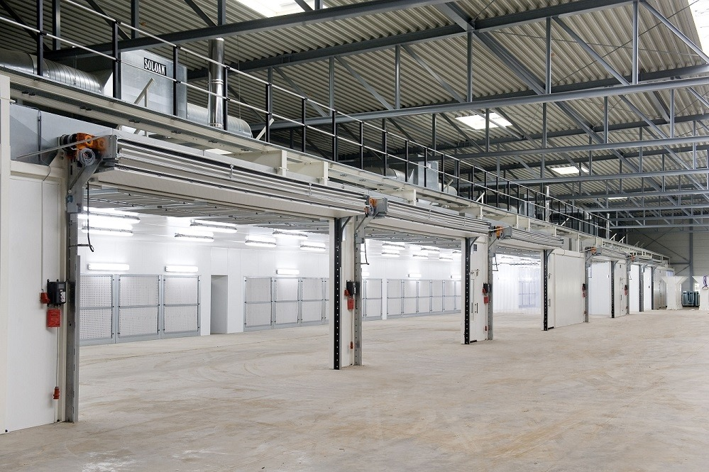 Spray booths with Compact doors
