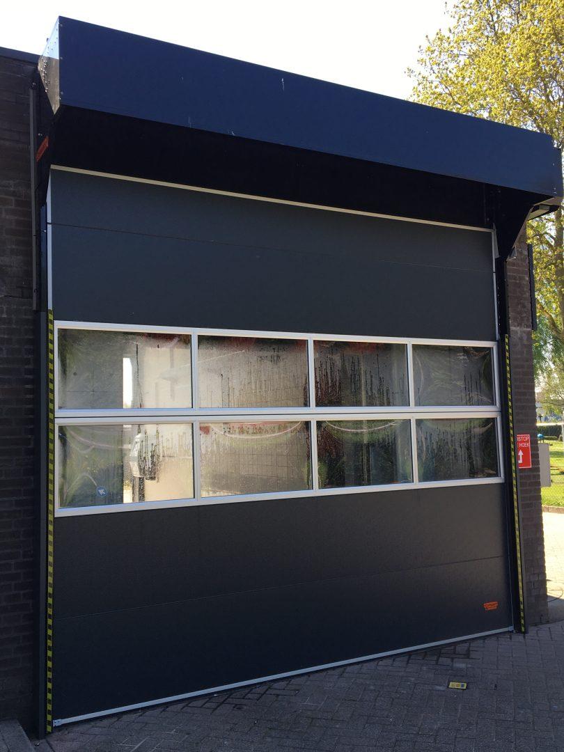 External installation industrial garage door