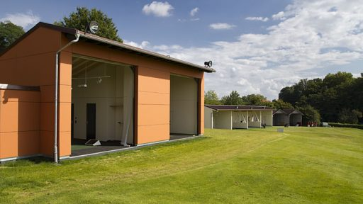 Driving range at Heilbronn with Compact doors