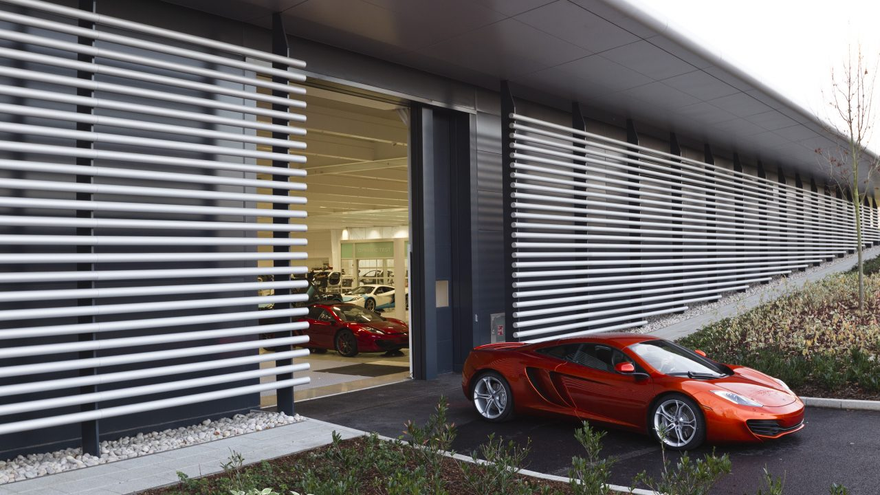 McLaren technology centre with Compact folding doors