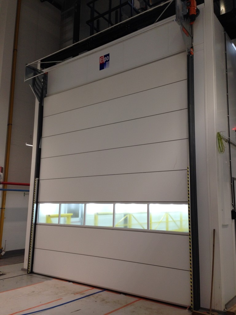 Spray booth door at MIVB-STIB Compact door