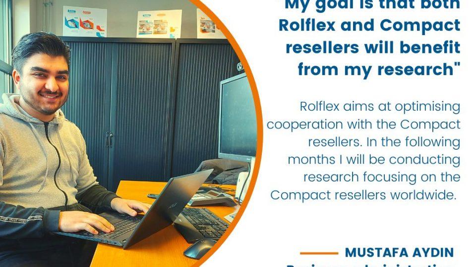 Mustafa Aydin is doing his internship at Rolflex