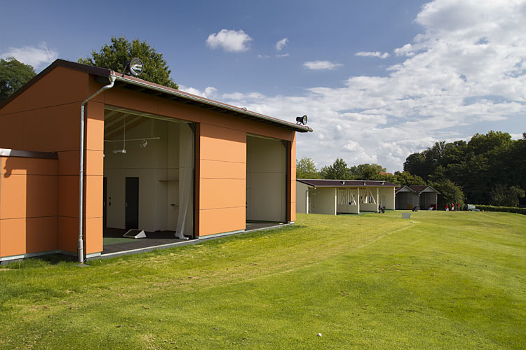 Practice du parcours de golf de Heilbronn avec portes empilables Compact