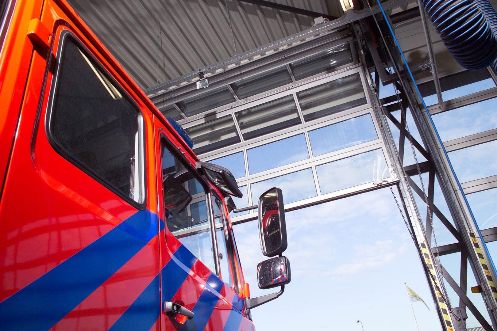 Porte Compact de la caserne de pompiers hoevelaken