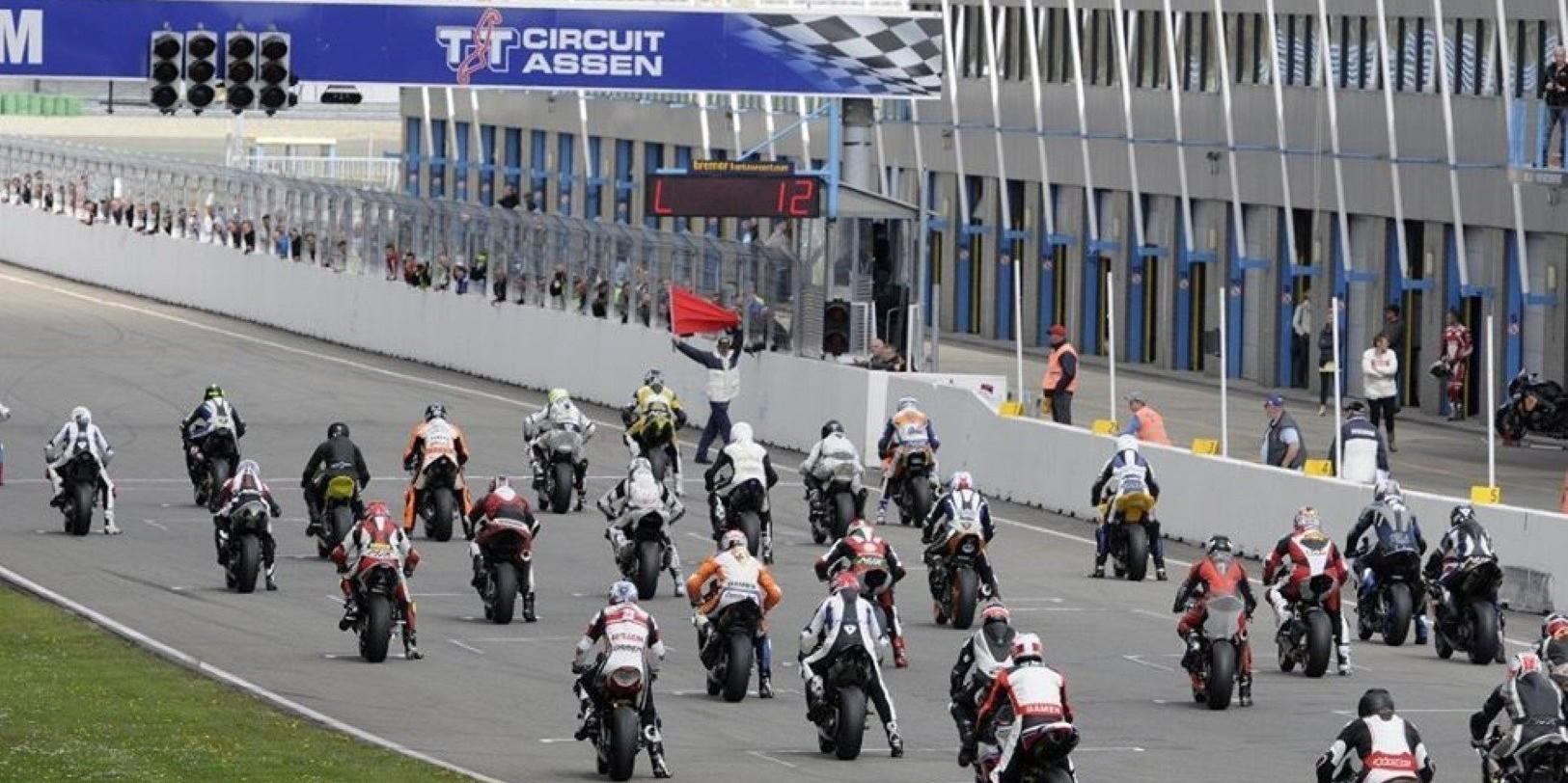 Zone de départ sur le circuit TT à Assen