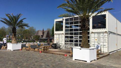 Bâtiment temporaire de la plage de la ville de Zwolle