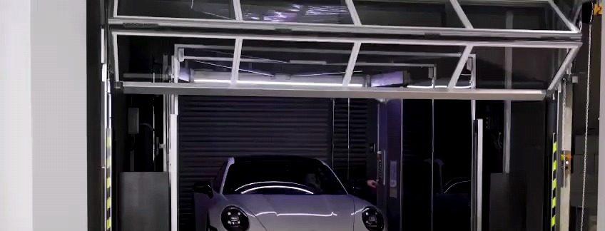 La porta compatta chiude il Ascensore per le auto da Ideal Park