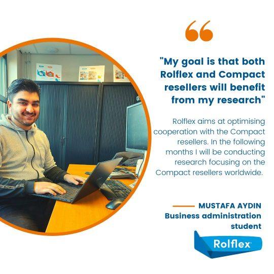 Mustafa Aydin sta facendo la sua fase pratica alla Rolflex