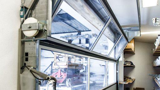 Geen plafondrails op de Compact vouwdeur