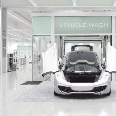 Autowasstraat voor McLaren-auto's