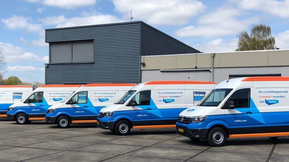 De nieuwe bussen voor Rolflex-monteurs